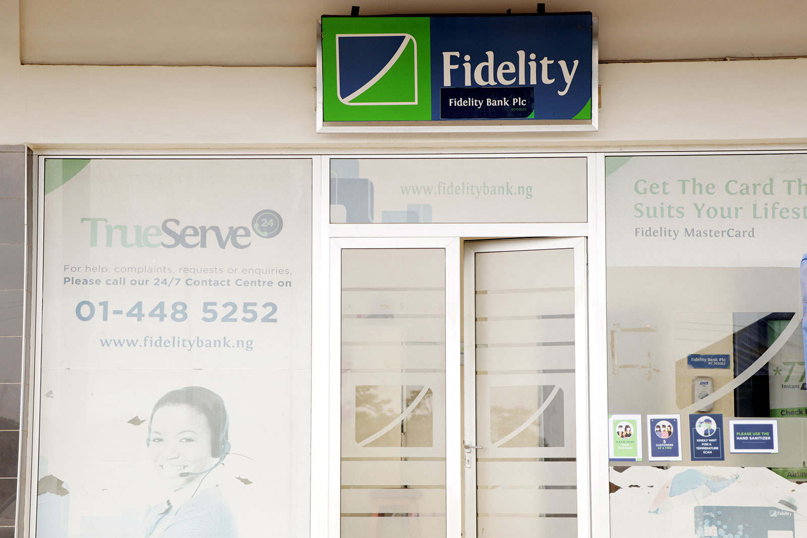 FIDELITY INVESTMENTS shop front
